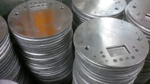 Aluminium CNC punched discs