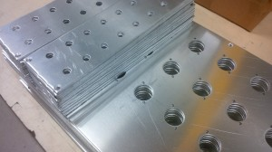 CNC punched aluminium front panels