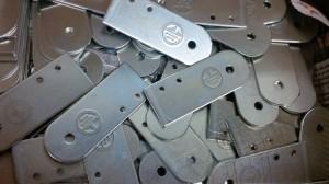 Sheet metal earthing bars