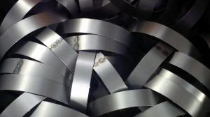 Rolling mild steel rings