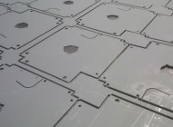 CNC punched zintec coated mild steel