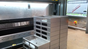 Mild steel housings folded