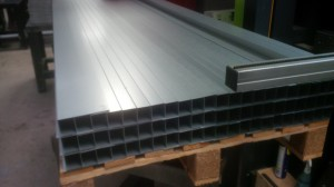 Bent galvanised steel sections