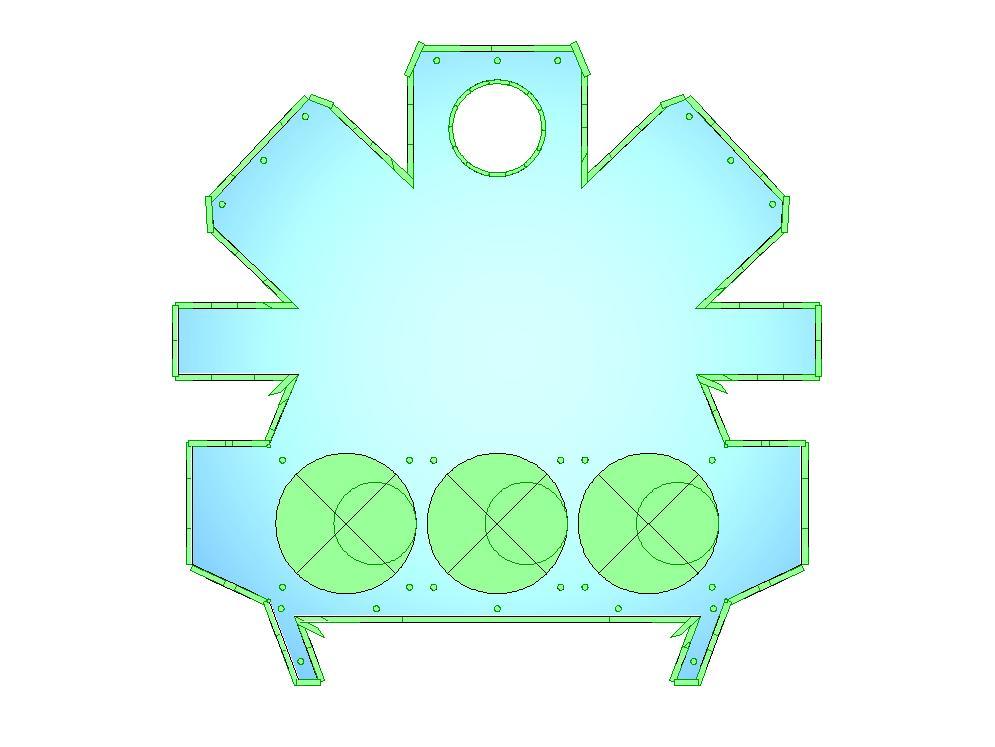 Air conditioning plenum housing CNC program