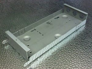 Sheet metal light fitting gear tray