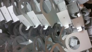 Laser cut and CNC bend zintec sheet metal work produced with Trumpf manufacturing equipment