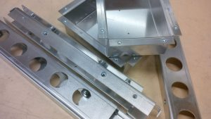 Laser cut aluminium sheet metal projects