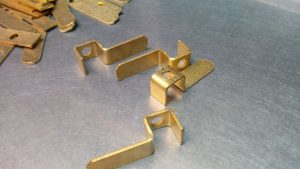 Angle brackets made from brass sheet