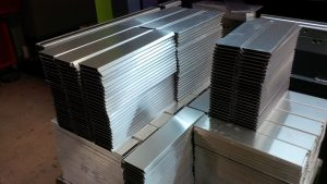 Aluminium sheet metal folded profiles