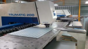 Trumpf 200 CNC punch press in action, sheet metal workers in the UK