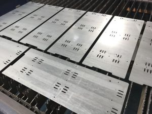 Laser cutting galvanised mild steel