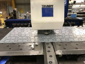 CNC punching sheet metal work