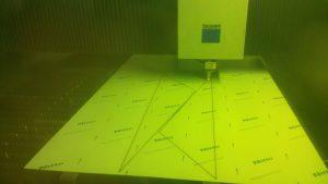 Laser cutting sheet metal work