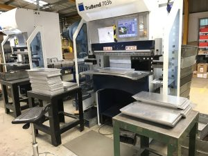 Now all 3 Trumpf 7036 CNC press brakes are working toegther