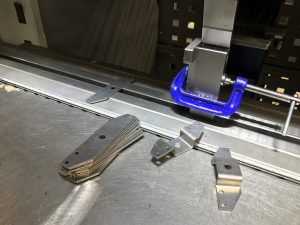 Bending mild steel brackets