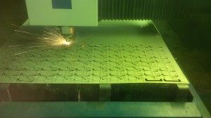 Laser cutting sheet metal work