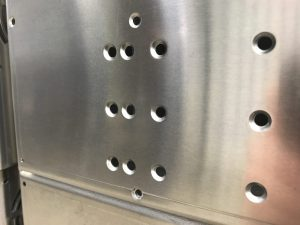 CNC punched CSK screw forms