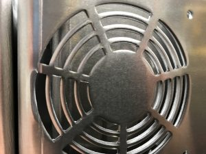 Fan pattern produced with CNC punch tooling