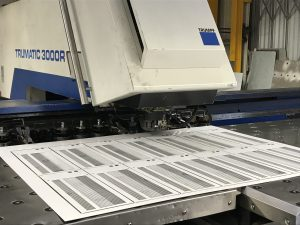 CNC punching sheet metal work in Great Britain