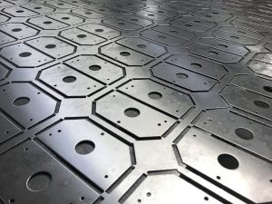 CNC punched sheet metal components