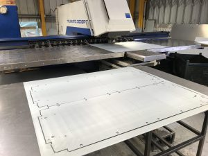 CNC punching with cut blanks for the lighting industry