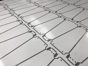 CNC punched plastic coated steel