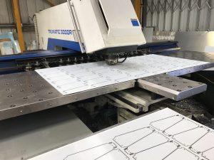 CNC punching plastic coated steel