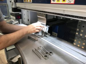 Folding a small stainless steel channel