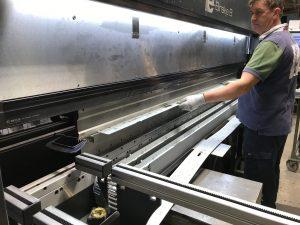 folding sheet metal work