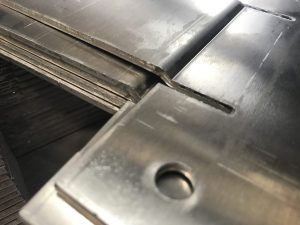 Joggled aluminium brackets