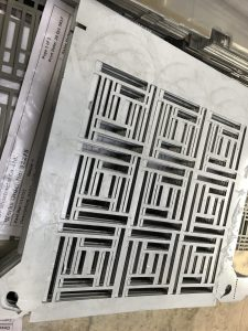 CNC punched sheet metal work
