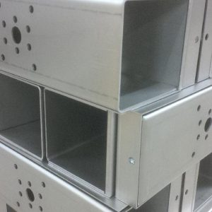 Folded sheet metal boxes