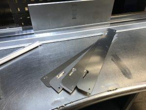 Laser cut aluminium strips