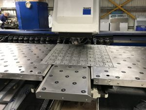 CNC punching the guide plate