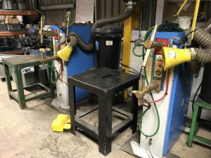 Spot welding bay