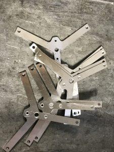 Flat laser cut aluminium components