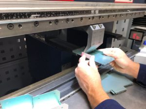 Quality sheet metal workers in Hampshire Folding up the blanks