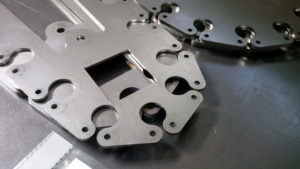 Laser cutting stainless steel components