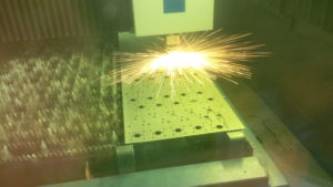 Laser cutting mild steel brackets