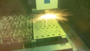 Laser cutting mild steel brackets