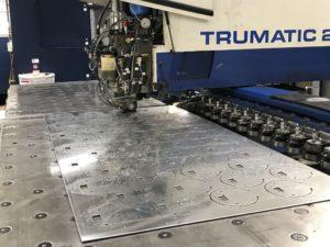 CNC punching aluminium circular discs