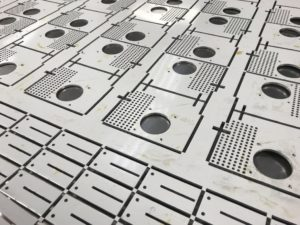 CNC punching aluminium sheet metal panels