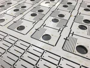 CNC punching aluminium sheet metal panels
