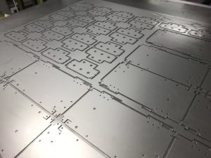 CNC punched nest