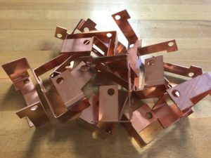 Copper sheet metal brackets