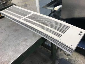 CNC punched heater cover blanks