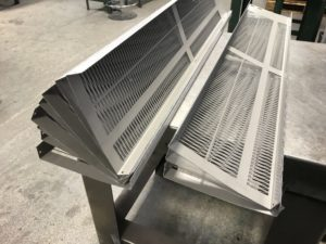 CNC folded heater covers