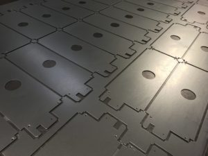 cnc punching galvanised mild steel sheet metal panels