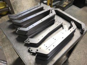 Final laser cut mild steel components