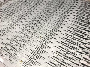 Laser cut scrap nests